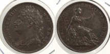 World Coins - GREAT BRITAIN: 1821 Farthing