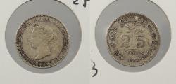 World Coins - CEYLON: 1892 Victoria. 25 Cents