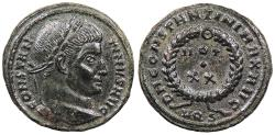 Ancient Coins - Constantine I, the Great 307-337 A.D. Follis Aquileia Mint Near EF