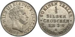 World Coins - GERMAN STATES: Prussia 1839-A 1/2 Groschen