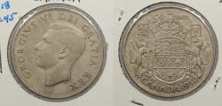 World Coins - CANADA: 1950 No lines in '0' of date. 50 Cents