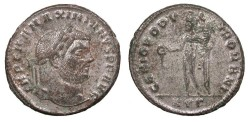 Ancient Coins - Maximianus 286-305 A.D. Follis Heraclea Mint EF