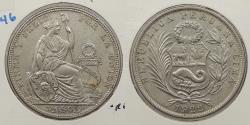 World Coins - PERU: 1922-LIMA 1/2 Sol