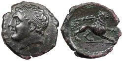 Ancient Coins - Sicily Syracuse Agathokles 317-289 B.C. Litra Near EF