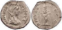Ancient Coins - Plautilla, wife of Caracalla 202-205 A.D. Denarius Rome Mint Near EF Includes Harlan J Berk ticket citing ex. Philip Ashton collection.