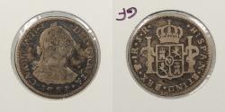 World Coins - BOLIVIA: 1774-Potosi JR Charles III Real