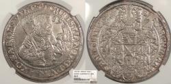 World Coins - GERMAN STATES Saxony- Albertine Line Christian I 1587 Thaler (Taler) NGC MS-62