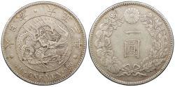World Coins - JAPAN Yoshihito (Taisho) Yr. 3 (1914) Yen AU
