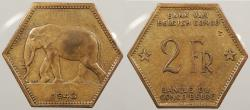 World Coins - BELGIAN CONGO: 1943 2 Francs