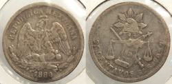 World Coins - MEXICO: 1880-Go S 25 Centavos #WC63495
