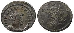 Ancient Coins - Allectus 293-296 A.D. Antoninianus Londinium (London) Mint Near EF Ex. David Bailey collection.