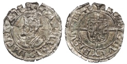World Coins - FRANCE Besançon Charles V, as Holy Roman Emperor 1530-1556 1/2 Blanc 1548 Good VF