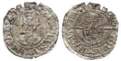 World Coins - FRANCE Besançon Charles V, as Holy Roman Emperor 1530-1556 1/2 Blanc 1548 Good VF