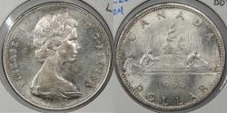 World Coins - CANADA: 1966 Voyegeur. Dollar