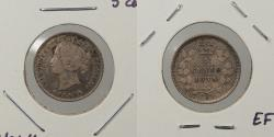 World Coins - CANADA: 1874-H Crosslet 4. Large date. 5 Cents