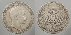 World Coins - GERMAN STATES: Prussia 1902-A 5 Mark