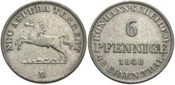 World Coins - GERMANY: Hannover 1848 B 6 Pfennig