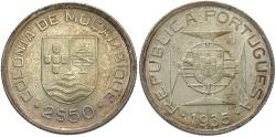 World Coins - MOZAMBIQUE: 1935 2 1/2 Escudos