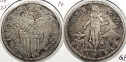 World Coins - PHILIPPINES: US Administration 1909-S Peso
