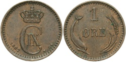 World Coins - DENMARK: 1882 1 Ore