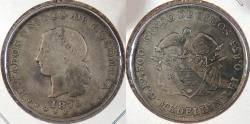World Coins - COLOMBIA: 1876 5 Decimos