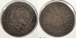 World Coins - MEXICO: 1852/1/0-Pi MC Real