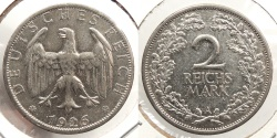 World Coins - GERMANY: 1926-A 2 Reichsmark