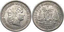 World Coins - HAITI: 1886 10 Centimes