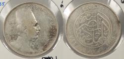 World Coins - EGYPT: AH 1341 / 1923-H Fuad I 10 Piastres