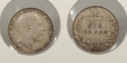World Coins - GREAT BRITAIN: 1908 Edward VII Sixpence