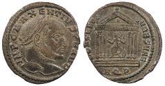 Ancient Coins - Maxentius 307-312 A.D. Follis Aquileia Mint Near EF