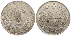 World Coins - EGYPT Muhammad V AH 1327 /yr 3 (1911)-H 10 Qirsh AU