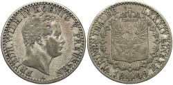 World Coins - GERMAN STATES: Prussia 1849-A 1/6 Thaler