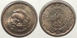 World Coins - MEXICO: 1946-M 10 Centavos