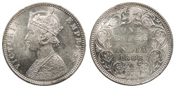 World Coins - INDIA Victoria 1888-B Rupee UNC