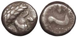 Ancient Coins - Eastern Europe Danubian Celts Uncertain Tribe Imitating Philip II of Macedon and Audoleon of Paeonia c. Late 3rd Century-2nd Century B.C. Tetradrachm Good Fine