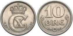 World Coins - DENMARK: 1922 10 Ore