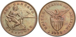 World Coins - PHILIPPINES: 1933 M 1 Centavo