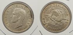 World Coins - NEW ZEALAND: 1941 George VI Shilling