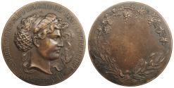 World Coins - FRANCE Ca. 1920s AE 50mm Bronze Medal AU
