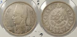 World Coins - EGYPT: AH 1358 / 1939 Farouk 10 Piastres