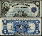 World Coins - PHILIPPINES Treasury of the Philippines ND (1944) 2 Pesos XF+