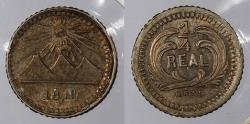 World Coins - GUATEMALA: 1879 1/4 Real