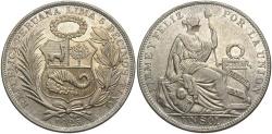 World Coins - PERU: 1925 1 Sol