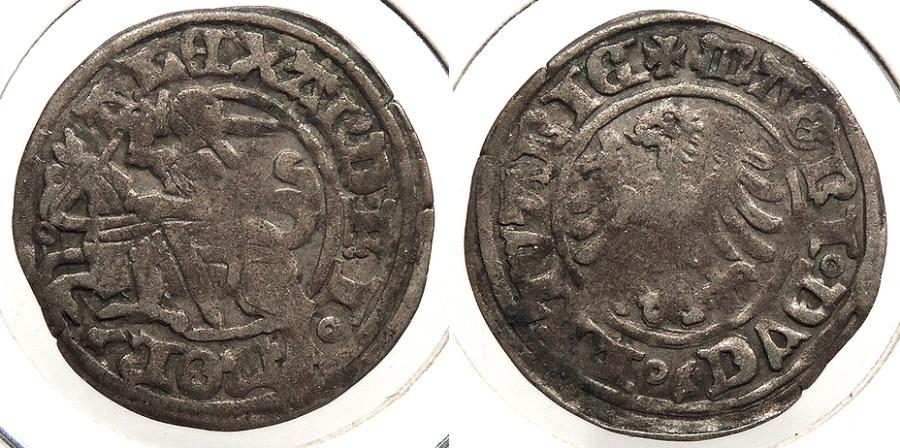 World Coins - LITHUANIA: ND (1495-1506) Aleksander 1/2 Grosz