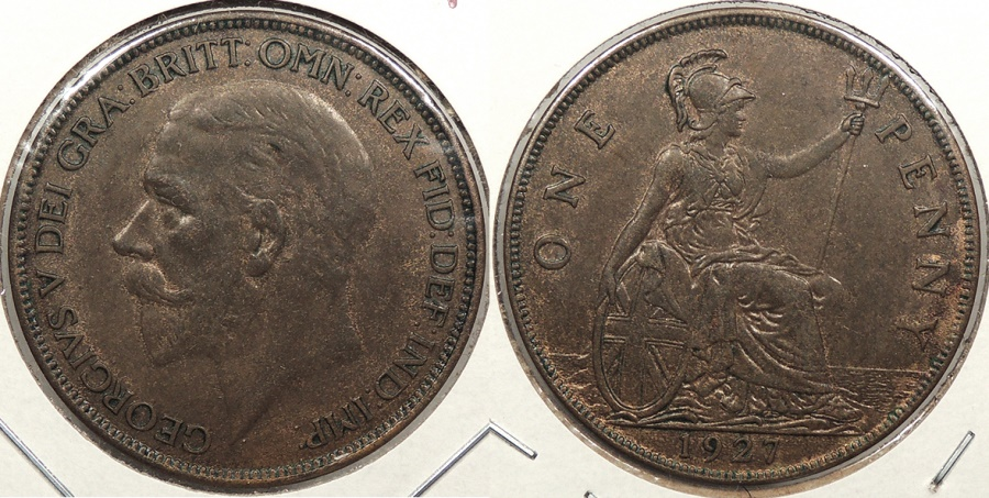 World Coins - GREAT BRITAIN: 1927 Penny