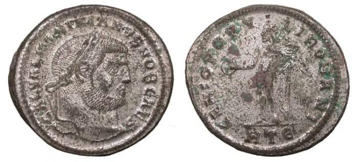 Ancient Coins - Galerius, as Caesar 293-305 A.D. Follis Heraclea Mint EF