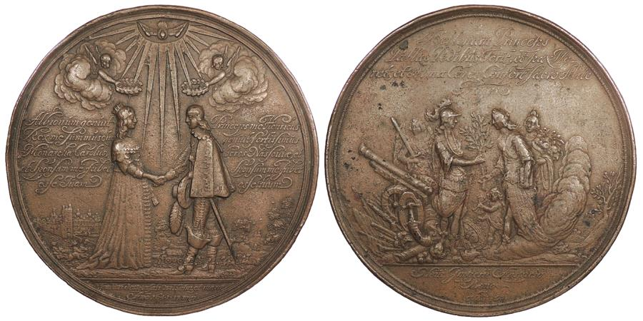 World Coins - ENGLAND by Johann Blum 1641 AE 71 mm Medal AU