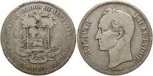 World Coins - VENEZUELA: 1900 5 Bolivares