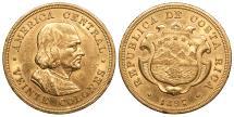 World Coins - COSTA RICA 1897 20 Colones AU/UNC